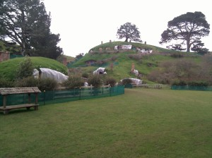 View of The Hobbiton as you walk onto the grounds.