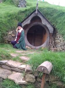 Inside of a Hobbit Hole set