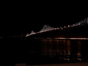 Bay Bridge Light Sculpture April 2013