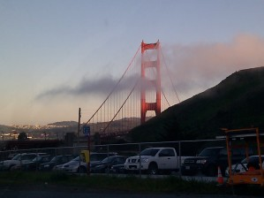 Approaching the bridge towards San Francisco.