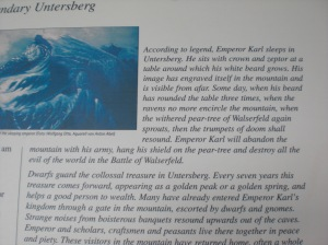 Untersberg Sign at the top of the peak in the German Alps.