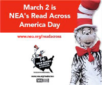 Read Across America is Mon. March 2, 2015.