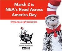 Read Across America is Mon. March 2, 2015.