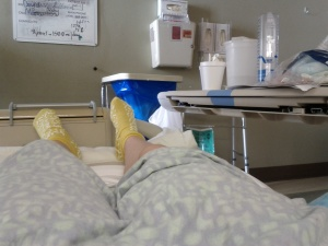 Resting in my hospital bed Dec. 2014.