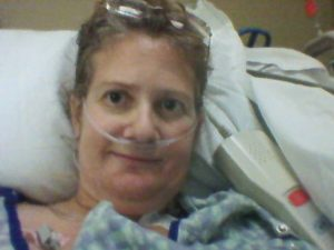 Tiffany Turner in the hospital ICU Dec. 2014